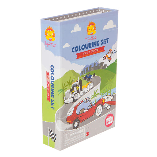 Colouring Set - Cars and Tucks