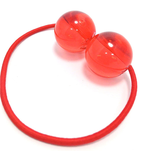 Hair Bobbles - 2 pcs / Red