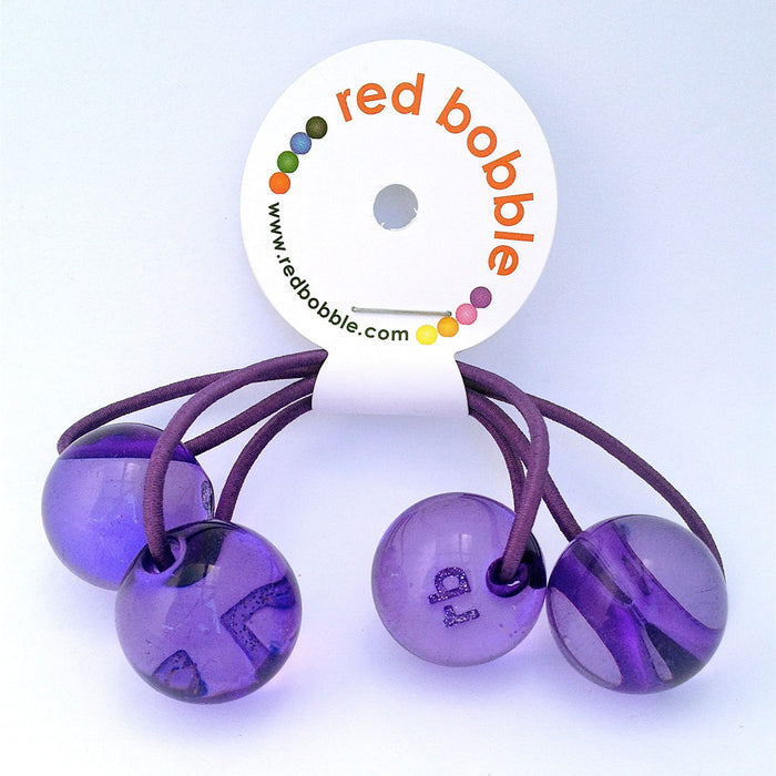 Hair Bobbles - 2 pcs / Purple