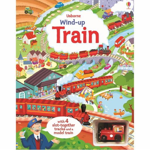 usborne wind up train puzzle book cover