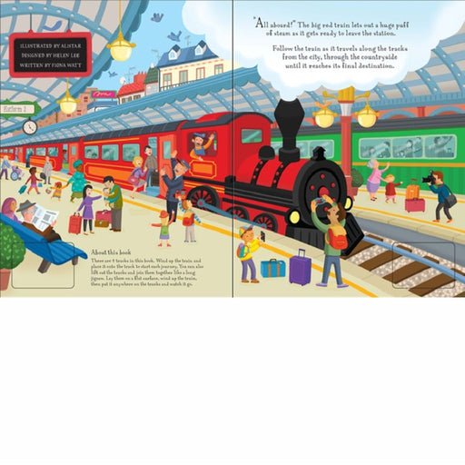 usborne wind up train puzzle book inside