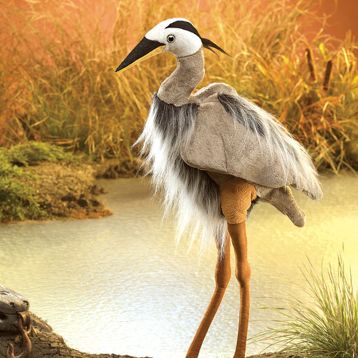 Great Blue Heron Puppet