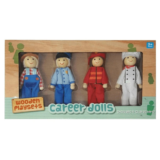 Bendable Doll Set - Career / 4 pcs