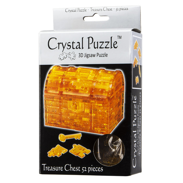 3D Crystal Puzzle - Treasure Chest / Gold / 52 pcs