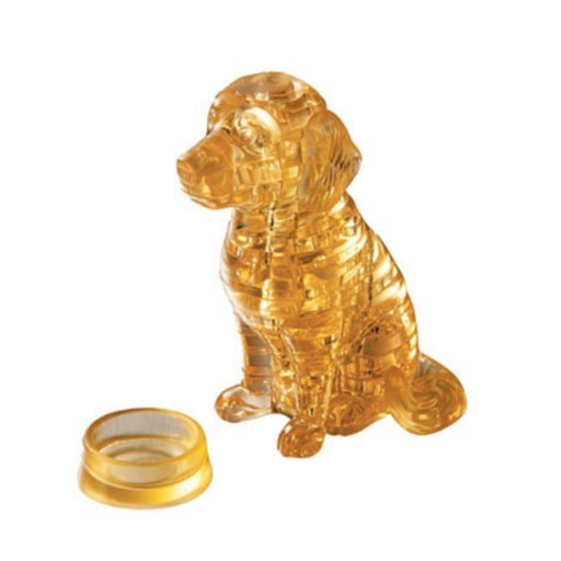 3D Crystal Puzzle - Golden Retriever / 41 pcs