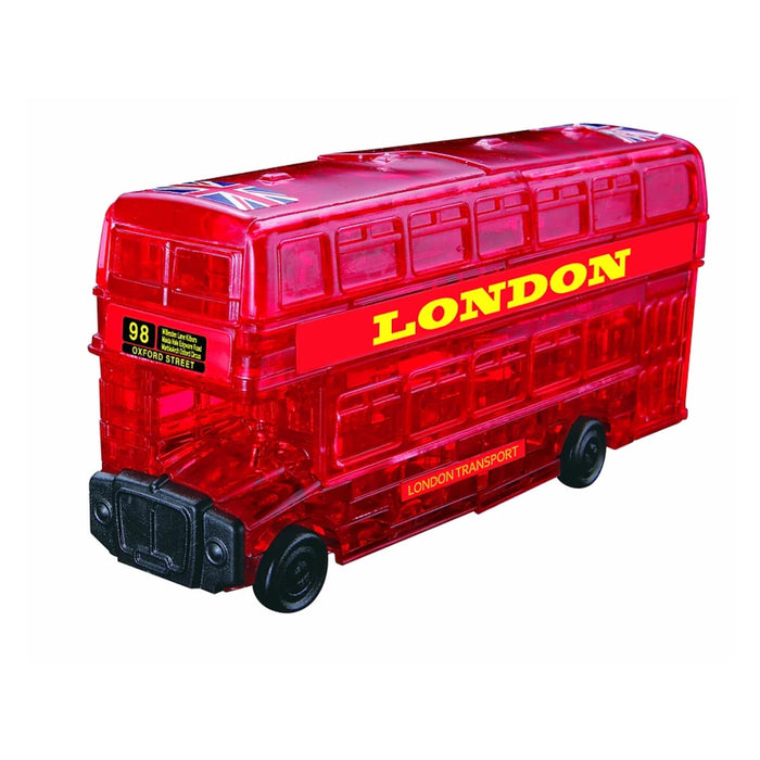 3D Crystal Puzzle - London Bus / 53 pcs