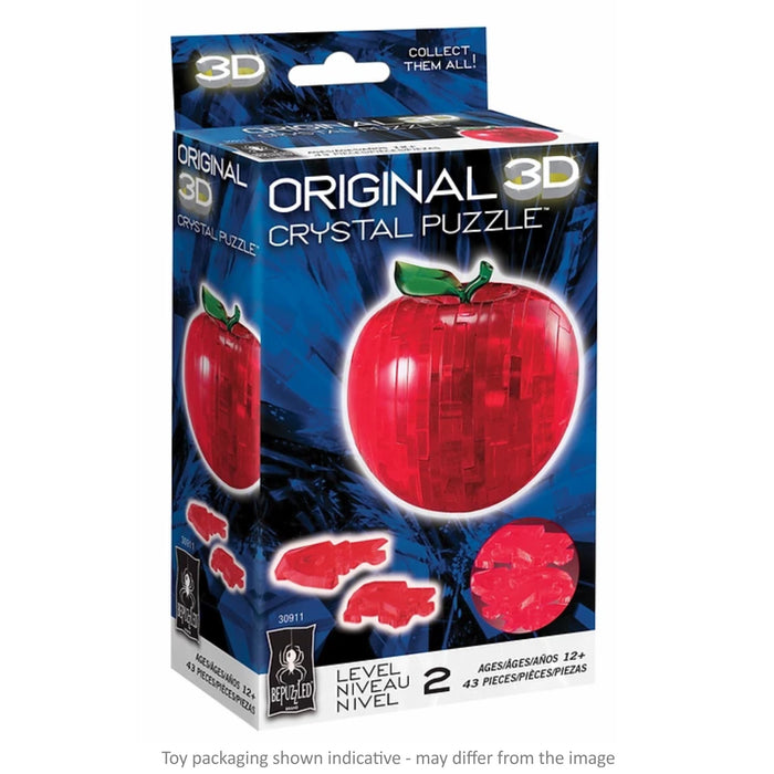 3D Crystal Puzzle - Red Apple / 44 pcs