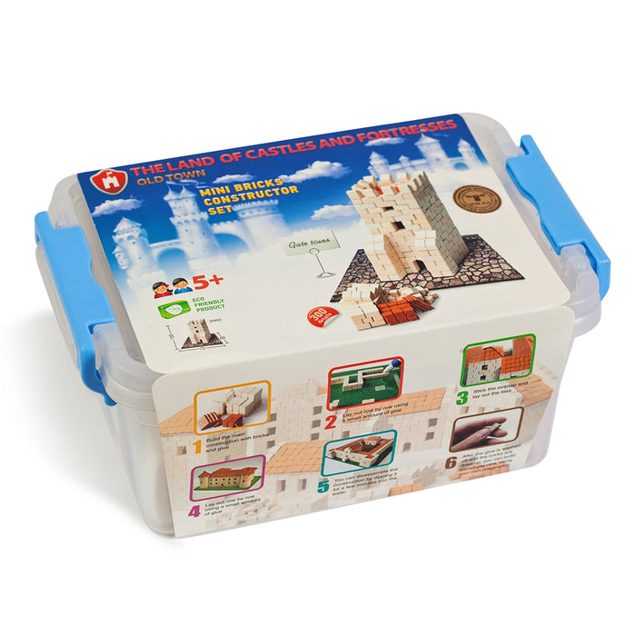 Mini Bricks Constructor Set - Gate Tower / 300 pcs