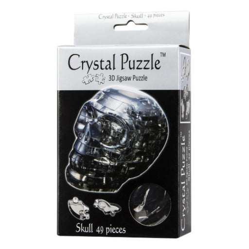 3D Crystal Puzzle - Skull / Black Translucent / 48 pcs