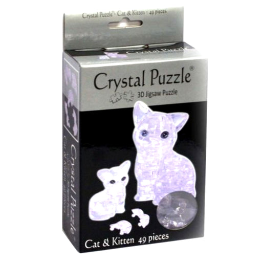 3D Crystal Puzzle - Cat and Kitten / 49 pcs