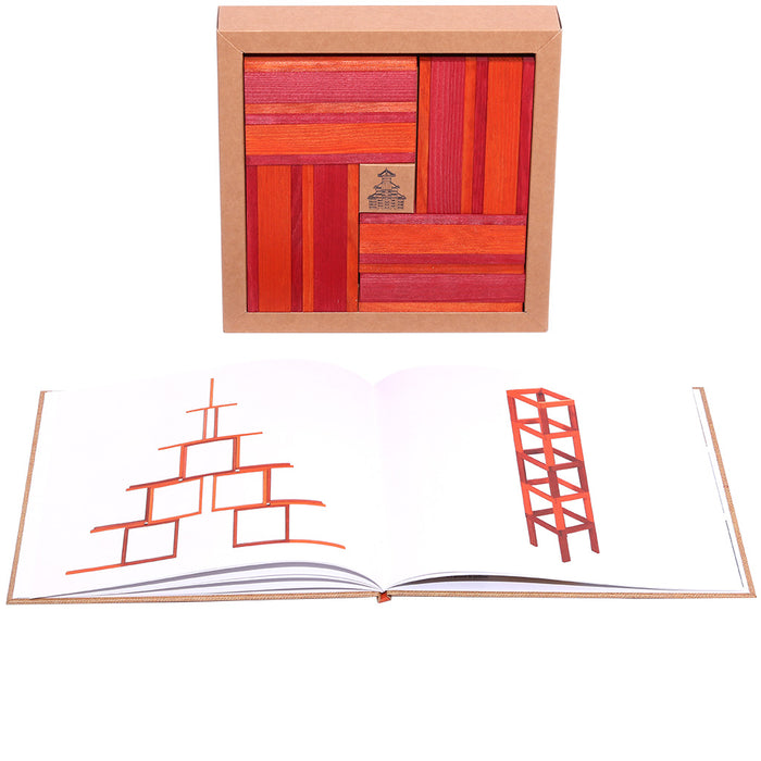 kapla 40 box orange red book pages
