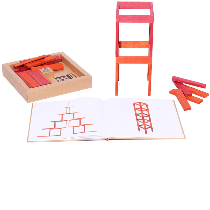 kapla 40 box orange red book inside