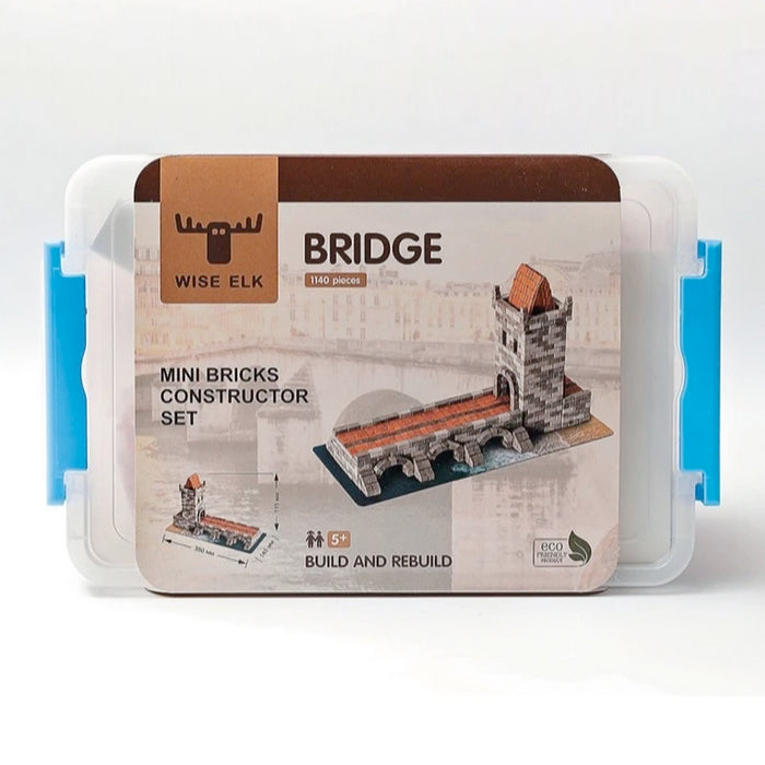 Mini Bricks Constructor Set - Bridge / 1140 pcs