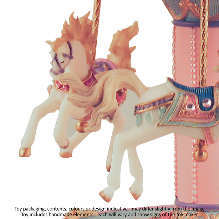 Musical Carousel - Blue and Pink with 3 Horses / 24 cm