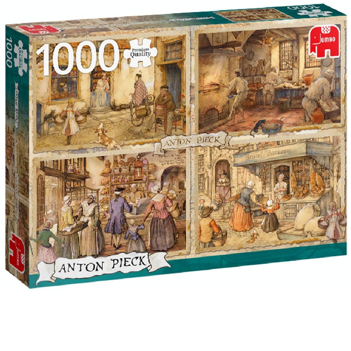1000 Piece Puzzle - Anton Pieck / Bakers from the 19th Century