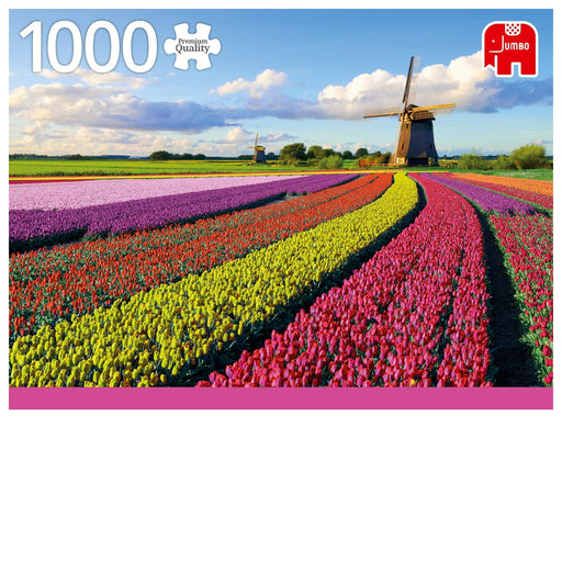 1000 Piece Puzzle - Fields of Tulips, Holland