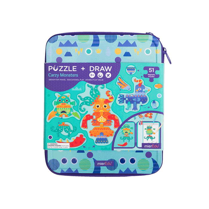 Puzzle Draw Magnetic Kit - Crazy Monsters