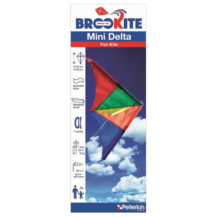 Mini Flyer Kite - Single Line / Delta / 22 x 46 cm