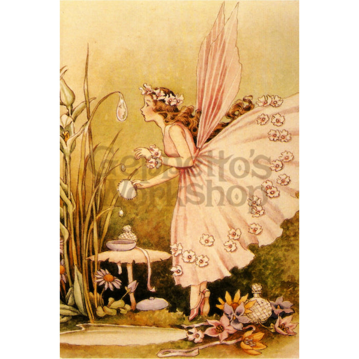 Greeting Card - Blush Fairy with Waterdrop