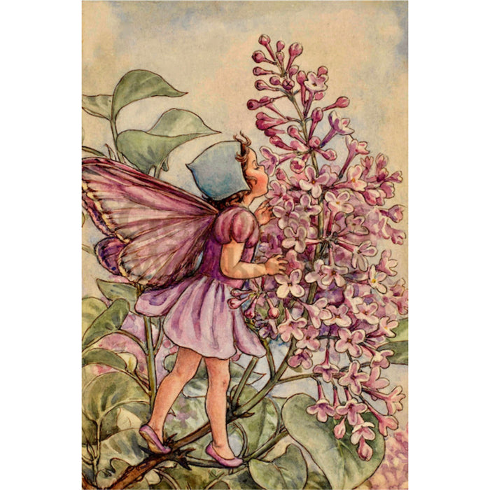 Greeting Card - Butterfly Fairy in Bonnet with Flower
