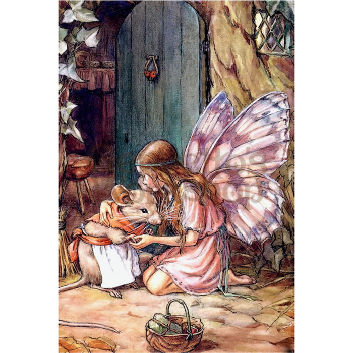 Greeting Card - Butterfly Fairy with Mother Mouse