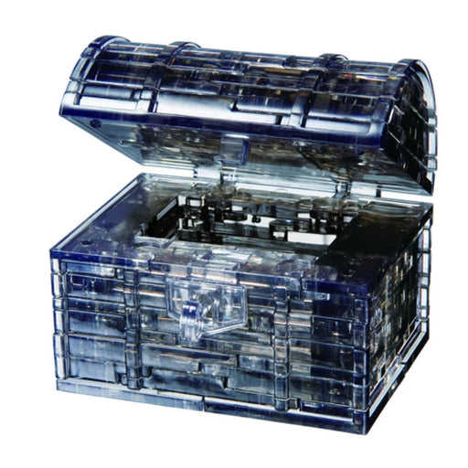3D Crystal Puzzle - Treasure Chest / Black / 52 pcs