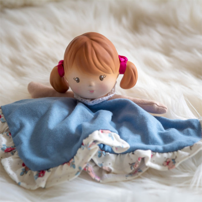 Teeny Doll Comforter with Rubber Head