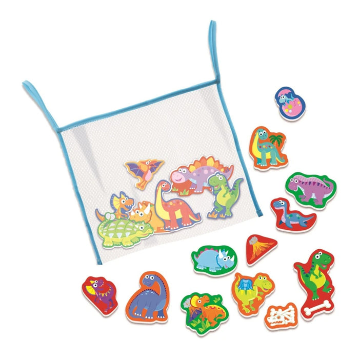 Bathtub Stickers with Mesh Bag - Dinosaurs