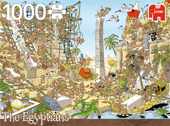 1000 Piece Puzzle - Pieces of History / The Egyptians