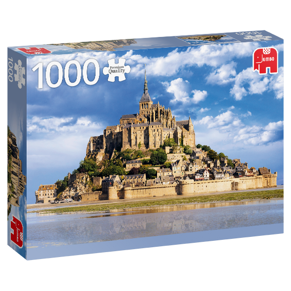 1000 Piece Puzzle - Mont Saint-Michel, France
