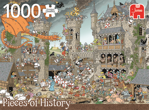 1000 Piece Puzzle - Pieces of History / The Castle