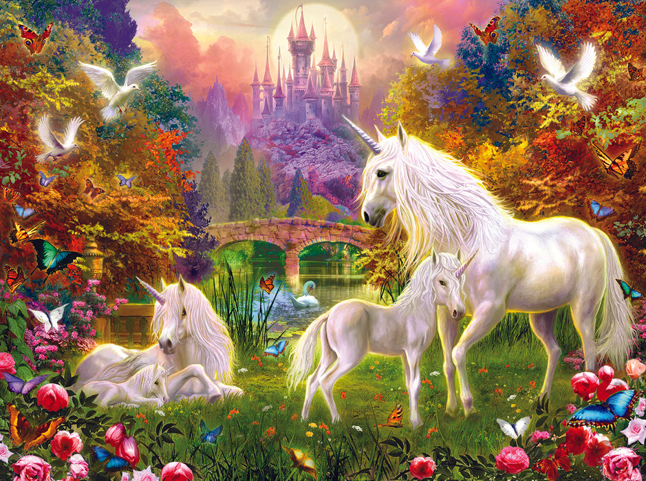 1500 Piece Puzzle - Castle Unicorns