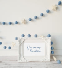 Load image into Gallery viewer, Felt Pom Pom Garland - Blue balls with White star