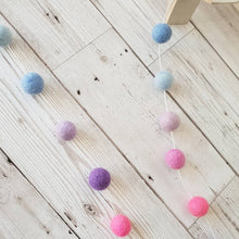 Load image into Gallery viewer, Multi-Coloured Felt Pom Pom Garland