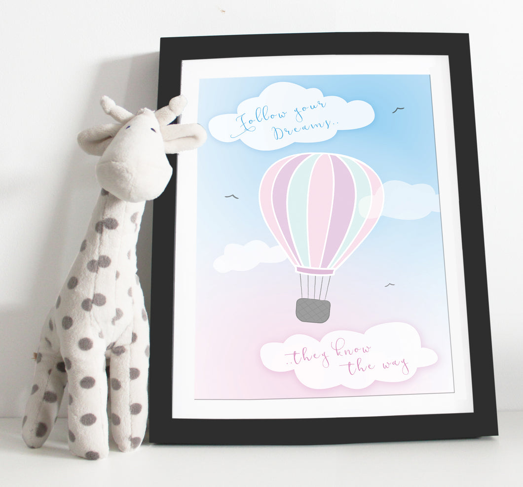 Hot air balloon Nursery print