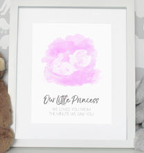 Load image into Gallery viewer, Baby scan photo print - Lighter Pink