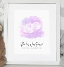 Load image into Gallery viewer, Baby scan photo print - Pink/Purple