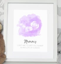 Load image into Gallery viewer, Baby scan photo print - Blue
