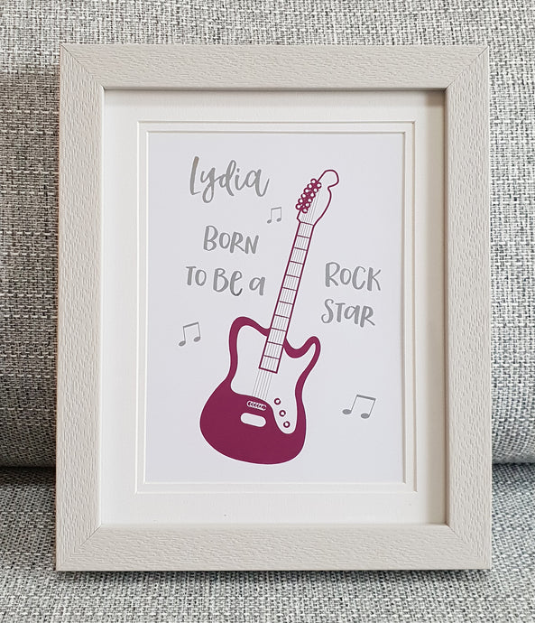 Rock star - Personalised Foil print