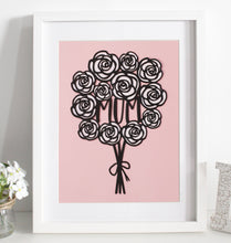 Load image into Gallery viewer, Rose bouquet papercut - Various colours available