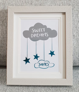 Cloud - Sweet dreams - Personalised Foil print