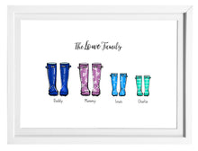 Load image into Gallery viewer, Welly boot family print
