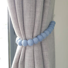 Load image into Gallery viewer, Felt pom pom curtain tieback