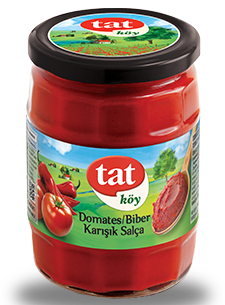 TAT VILLAGE TOMATE-PEPPER PASTE MIX / KOY KARISIK DOMATES VE BIBER SALCASI 12X580 CC