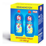 PRIL DISHWASHER LIQUID DETERGENT LEMON 2X1350 ML