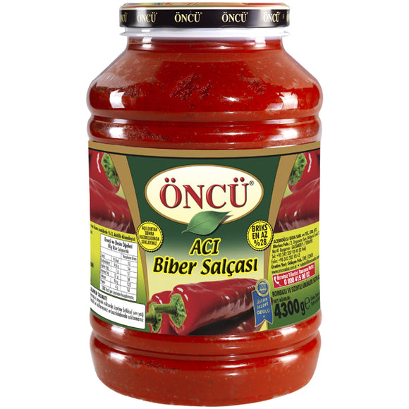 ONCU ACI BIBER SALCASI - HOT PEPPER PASTE  4X4300 GR