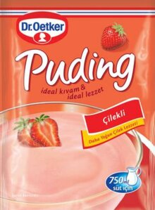 DR OETKER PUDDING CILEKLI - PUDDING STRAWBERRY 24X125 GR