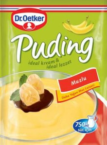 DR OETKER PUDDING BANANA - PUDDING MUZLU 24X125 GR