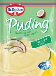 DR OETKER PUDDING W/ COCONUT - HINDISTAN CEVIZLI PUDING 24X128 GR
