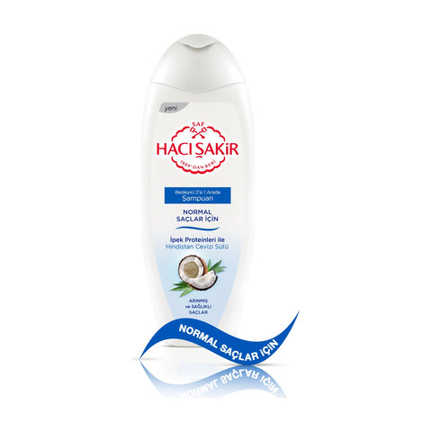 HACI SAKIR SHAMPOO WITH COCONUT 2 IN 1 -HINDISTAN CEVIZLI 2SI BIR ARADA SAMPUAN 12X500 ML
